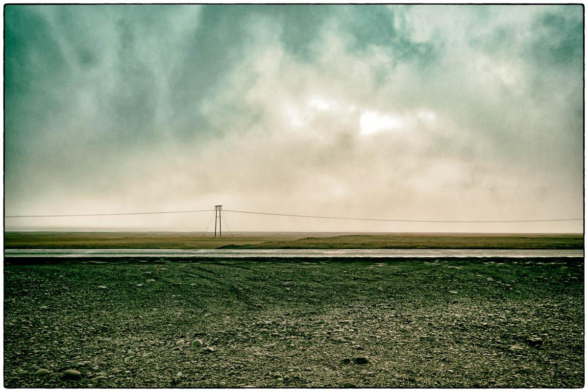 Strommast an der isländischen Ringstraße