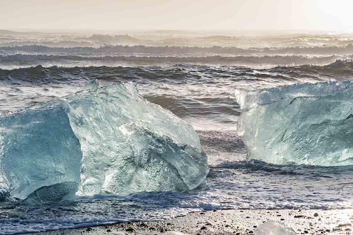 Gletscherlagune Meerseite