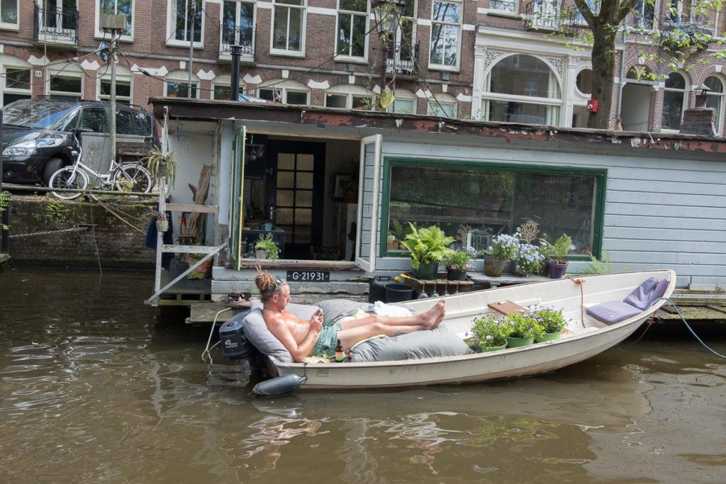 Chillen im Boot