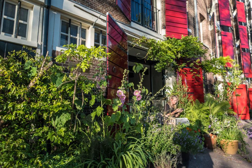 Chillen im selbstgebastelten Garten