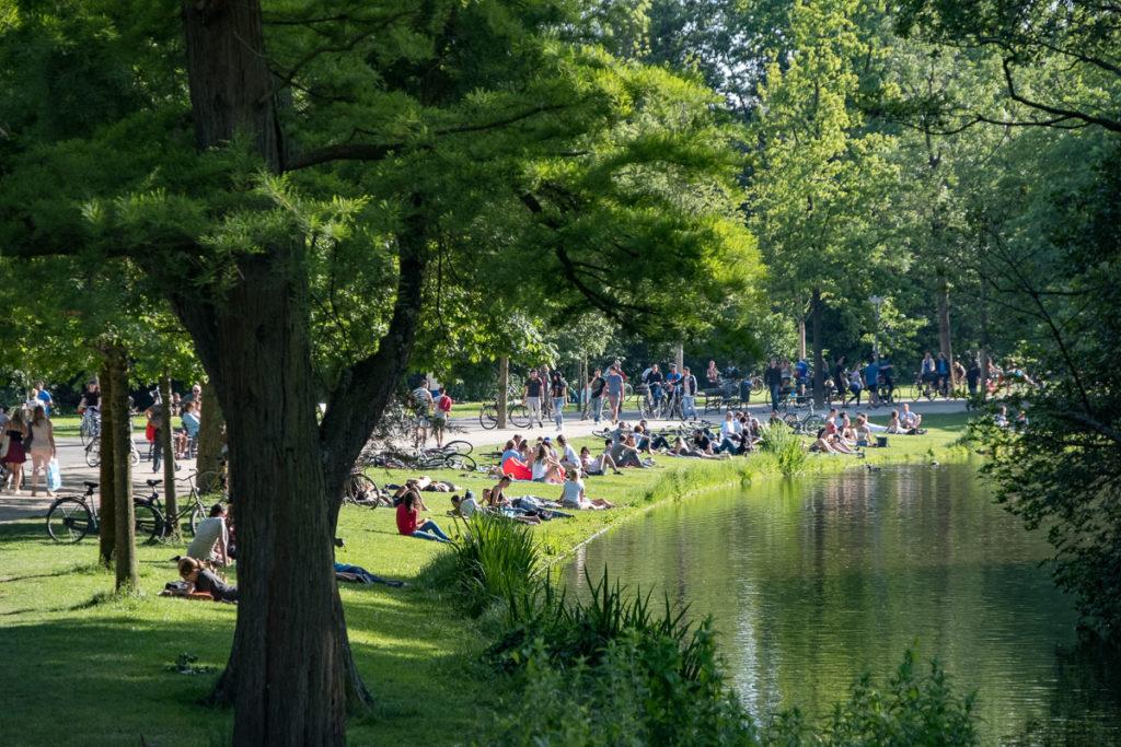 See im Vondelpark Amsterdam