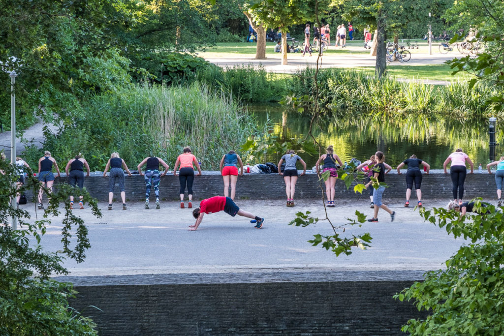 Fitness im Vondelpark