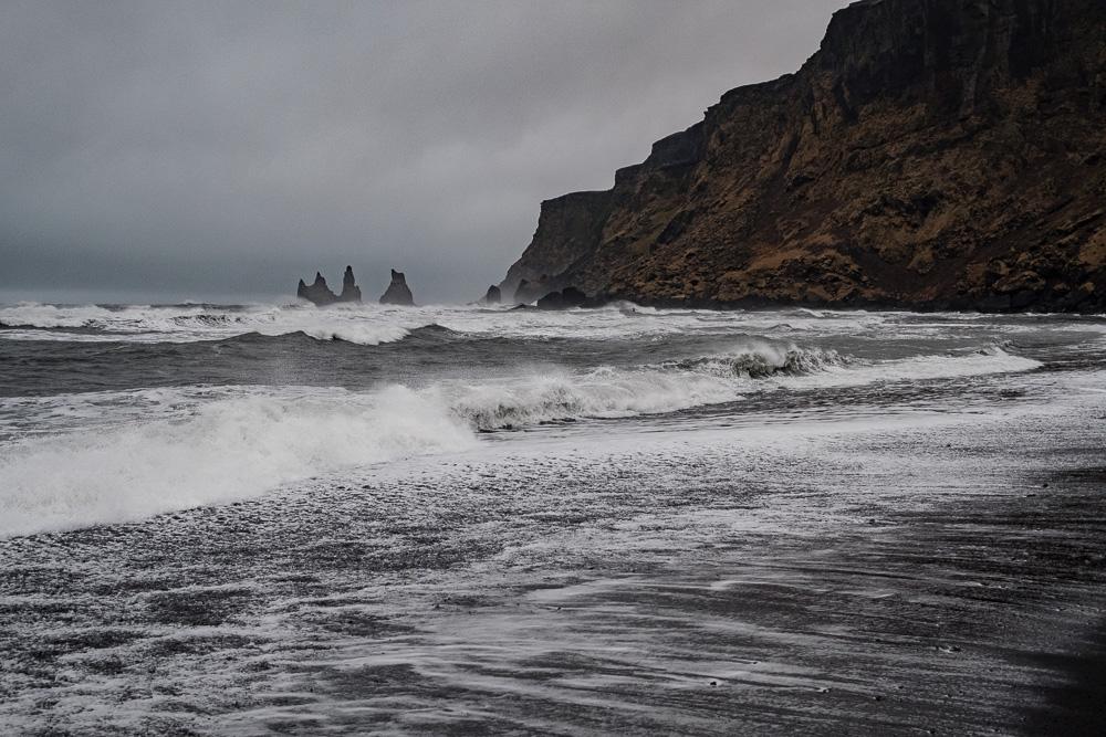 Der schwarze Strand von Vik i Myrdal