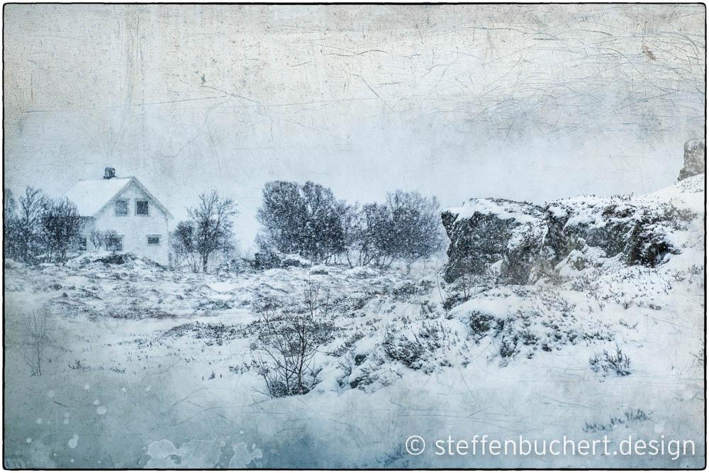 Schneestrum kurz vor Sennesvik/Lofoten