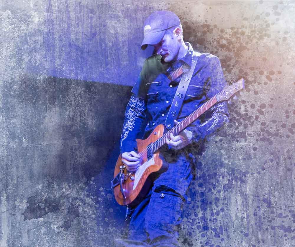 Musikerportraits - Gitarrist nach der Bildbearbeitung
